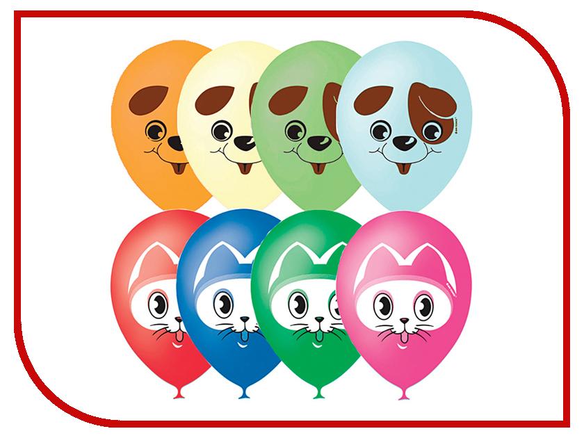 Набор воздушных шаров ПОИСК Кот и Пес 30cm 25шт 6 054 267 поиск