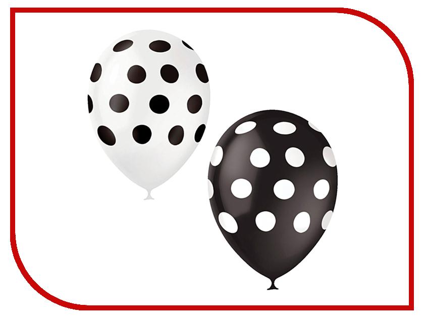 Набор воздушных шаров ПОИСК Горошек 30cm 25шт Black-White 6 053 895 петля edelrid edelrid aramid cord 6 мм 30cm