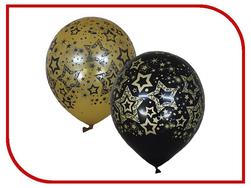 Набор воздушных шаров ПОИСК Голливуд Black&Gold 30cm 25шт 6 055 462 поиск