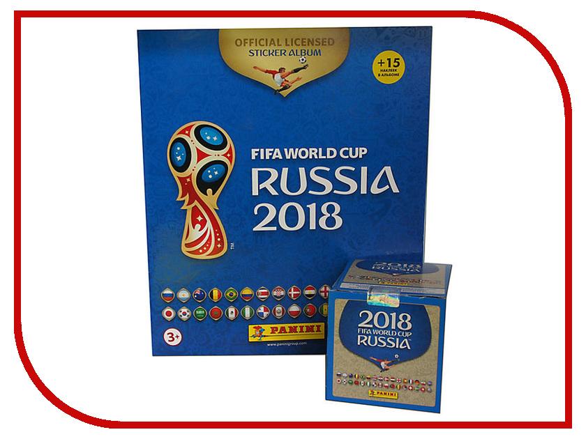 Набор Альбом с 50 наклейками в боксе Panini Чемпионат Мира По Футболу FIFA 2018