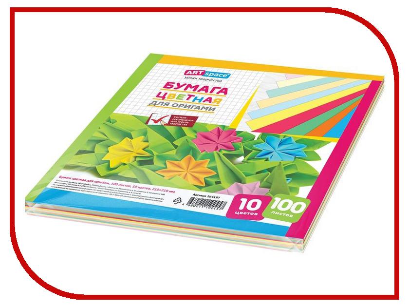 Цветная бумага ArtSpace 10 цветов 100 листов 264197 aroma jazz масло массажное жидкое для лица огненный джаз 200 мл