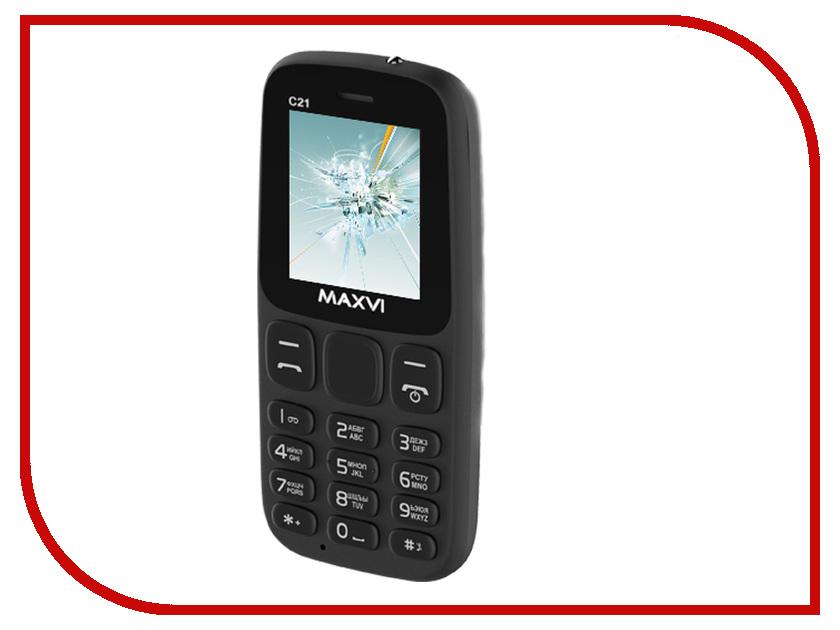Сотовый телефон MAXVI C21 Black сотовый телефон maxvi p11 gold