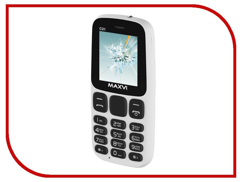 Сотовый телефон MAXVI C21 White ambiente подвесной светильник ambiente navarra 02228 wp