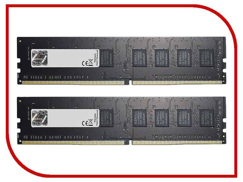 Модуль памяти G.Skill NT DDR4 DIMM 2400MHz PC4-19200 CL15 - 8Gb KIT (2x4Gb) F4-2400C15D-8GNT цена и фото