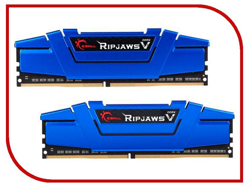 Модуль памяти G.Skill Ripjaws V DDR4 DIMM 2400MHz PC4-19200 CL15 - 16Gb KIT (2x8Gb) F4-2400C15D-16GVB модуль памяти hp 16gb 2rx4 pc3 12800r 11 kit 672631 b21
