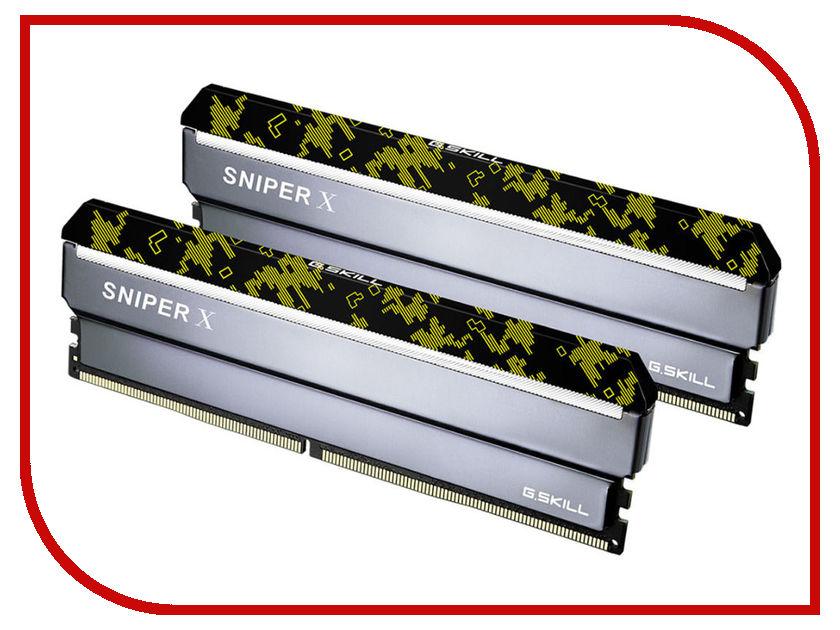 Модуль памяти G.Skill Sniper X DDR4 DIMM 2400MHz PC4-19200 CL17 - 16Gb KIT (2x8Gb) F4-2400C17D-16GSXK модуль памяти hp 16gb 2rx4 pc3 12800r 11 kit 672631 b21