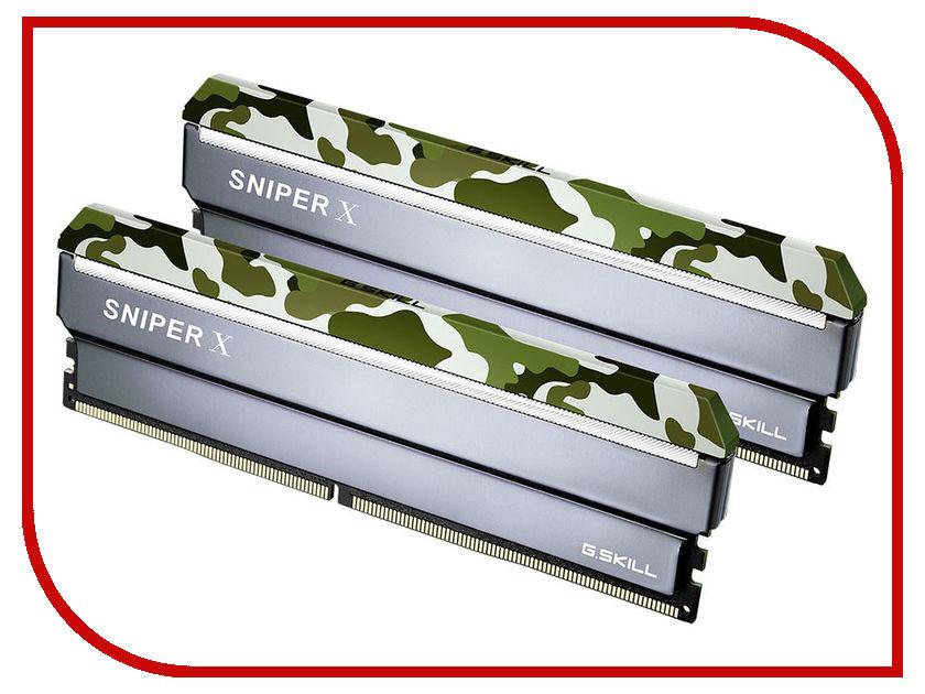 Модуль памяти G.Skill Sniper X DDR4 DIMM 2400MHz PC4-19200 CL17 - 16Gb KIT (2x8Gb) F4-2400C17D-16GSXF модуль памяти hp 16gb 2rx4 pc3 12800r 11 kit 672631 b21