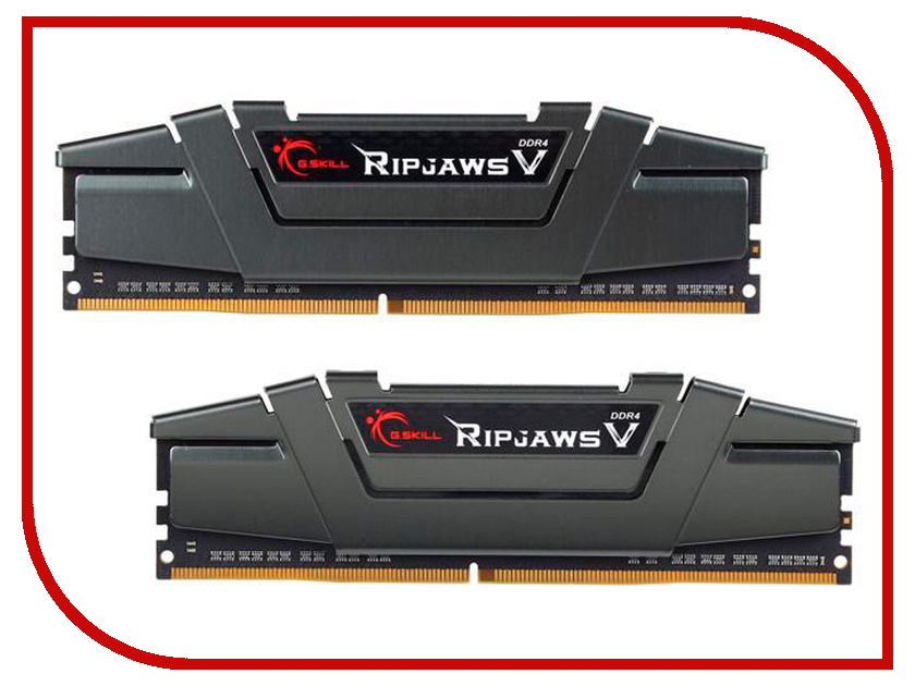 Модуль памяти G.Skill Ripjaws V DDR4 DIMM 3000MHz PC4-24000 CL15 - 16Gb KIT (2x8Gb) F4-3000C15D-16GVGB модуль памяти klevv ddr4 dimm 3000mhz pc24000 cl15 16gb km4z16x2a 3000 0