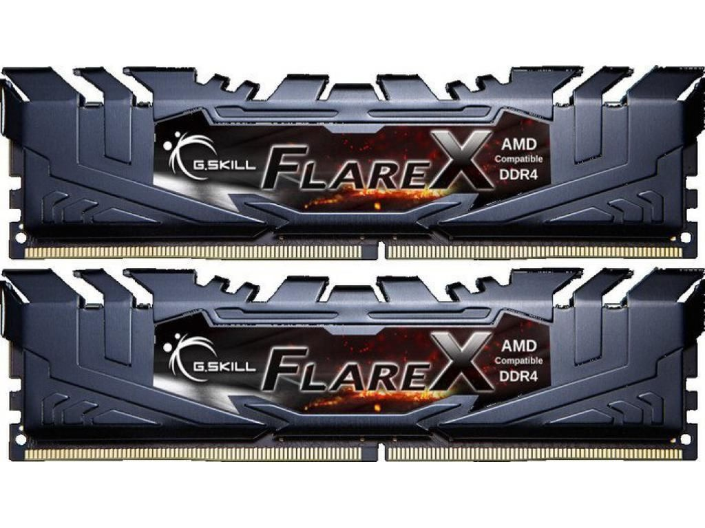 Модуль памяти G.Skill FlareX DDR4 DIMM 3200MHz PC4-25600 CL14 - 16Gb KIT (2x8Gb) F4-3200C14D-16GFX