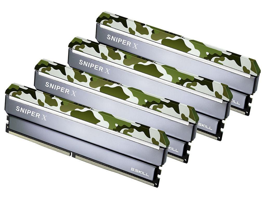 Модуль памяти G.Skill Sniper X DDR4 DIMM 2400MHz PC4-19200 CL17 - 32Gb KIT (4x8Gb) F4-2400C17Q-32GSXF цена