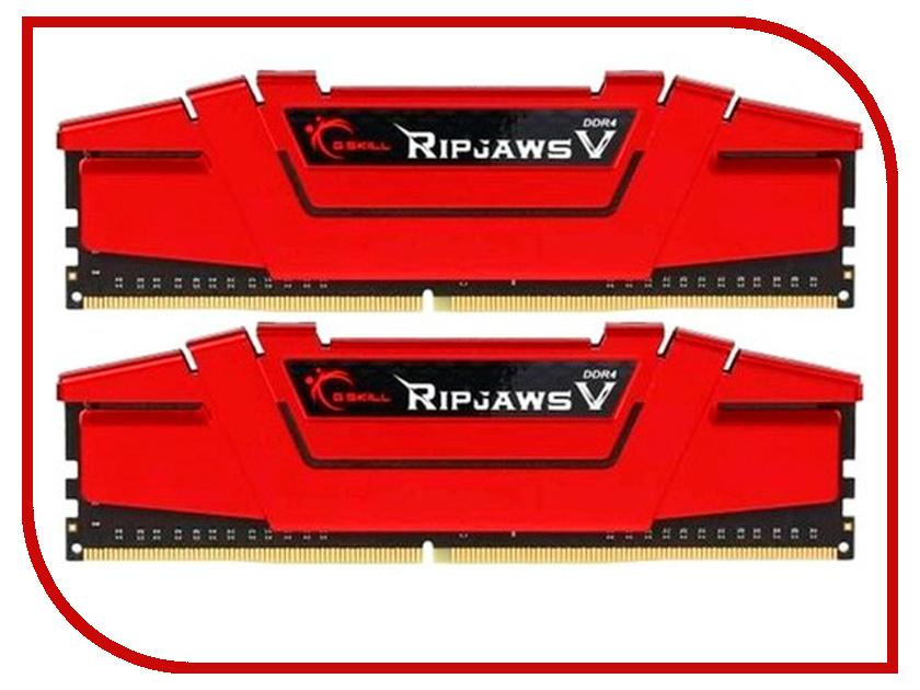 Модуль памяти G.Skill Ripjaws V DDR4 DIMM 3000MHz PC4-24000 CL15 - 32Gb KIT (2x16Gb) F4-3000C15D-32GVR модуль памяти klevv ddr4 dimm 3000mhz pc24000 cl15 32gb km4z16x2a 3000 1