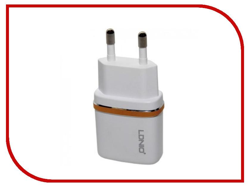Зарядное устройство LDNIO USB + Lightning 8 pin DL-AC50 1A White bonatech xh2 54 8 pin connectors plug straight needle seat terminals white 10 pcs