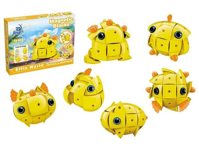 Конструктор Shantou Gepai / Наша игрушка Мир эльфов Магнитный 78 детали 306 951451