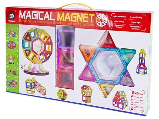 Конструктор Shantou Gepai / Наша игрушка 3D Магнитный 52 детали 703 631105