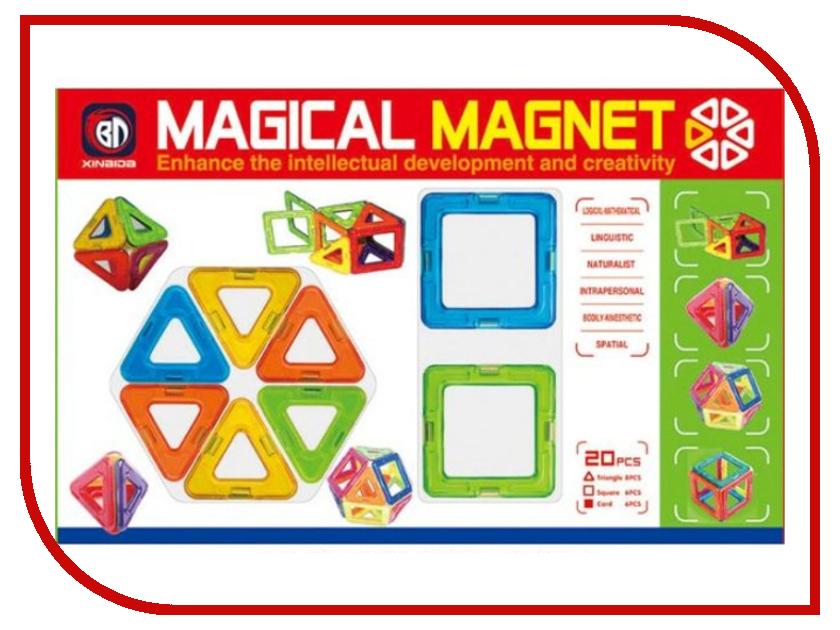 Конструктор Shantou Gepai / Наша игрушка 3D Магнитный 20 деталей / 631103 игрушка shantou gepai домик 632804