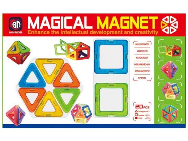 Конструктор Shantou Gepai / Наша игрушка 3D Магнитный 20 деталей 631103