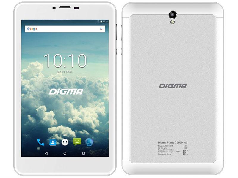 Планшет Digma Plane 7563N 4G PS7178ML Silver (MediaTek MTK8735V 1.0 GHz/1024Mb/16Gb/GPS/LTE/3G/Wi-Fi/Bluetooth/Cam/7.0/1280x800/Android) 1014232