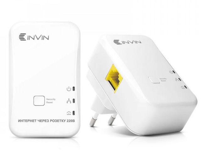Powerline адаптер Invin L2 2шт 03-800 авент набор для новорожденных natural бут пп 125мл 2шт 260мл 2шт пустышка ершик scd290 01 арт 86105
