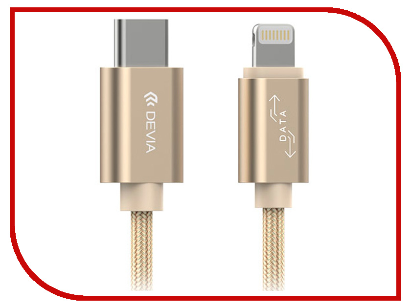 Аксессуар Devia Gracious USB - Lightning Fast Charge 2.4A 1.5 Gold 19264 бра n light heart b 924 2 satin chrome