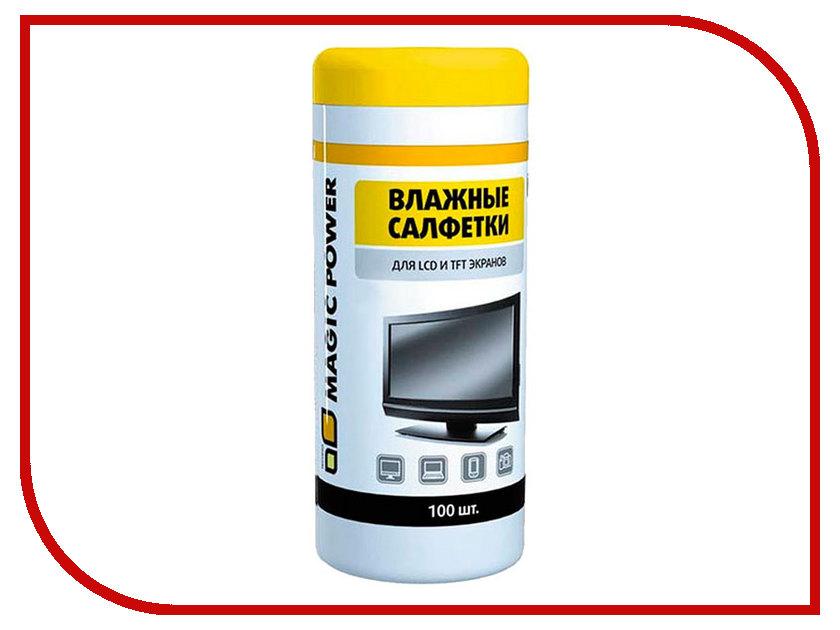 Аксессуар Салфетка для LCD Magic Power MP-820 100 шт супер салфетка из микрофибры с леской magic power mp 508