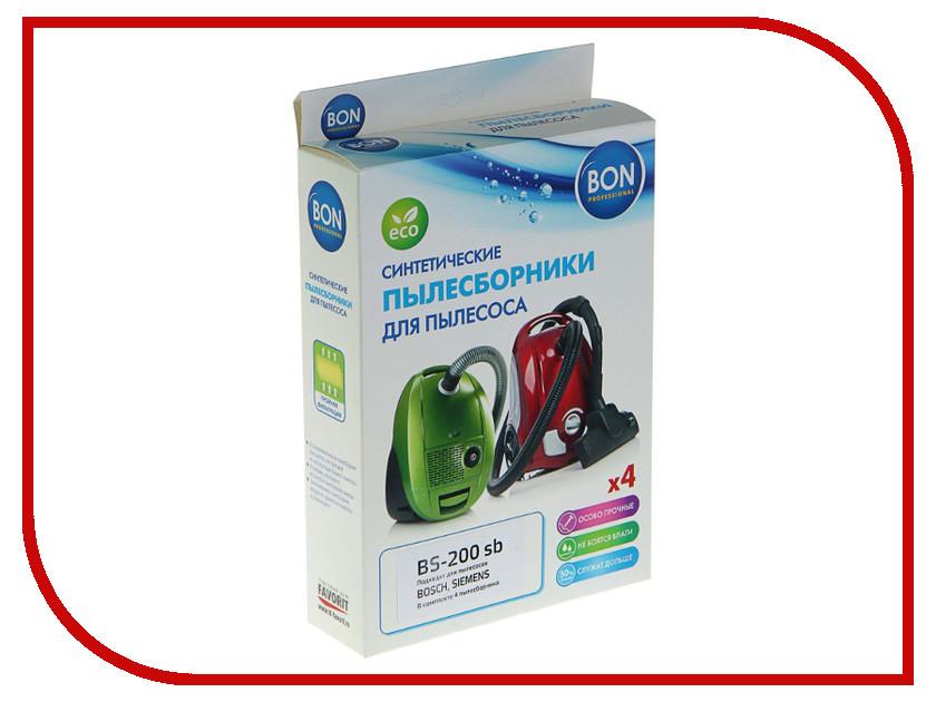 Мешки-пылесборники синтетические Bon BS-200 sb 4шт для Bosch / Siemens освещение mindray bs 200 bs 420 12v 20w c000 198 1 0 bs200 bs420 12v20w bs 200