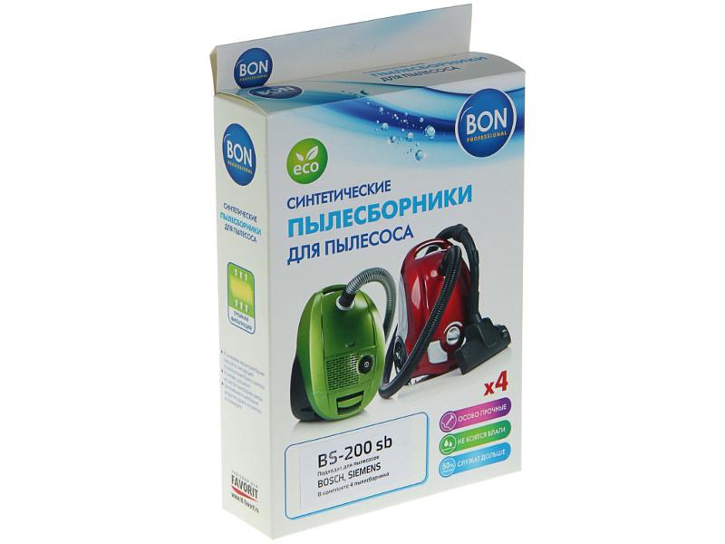 Мешки-пылесборники синтетические Bon BS-200 sb 4шт для Bosch / Siemens