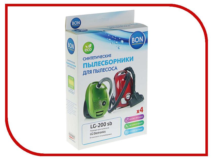 Мешки-пылесборники синтетические Bon LG-200 sb 4шт для LG lg lb644029t