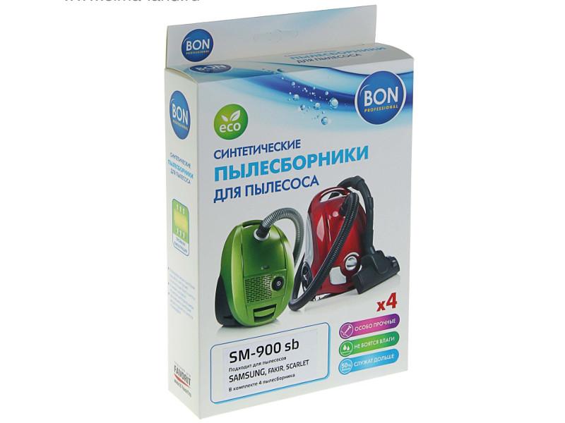 Мешки-пылесборники синтетические Bon SM-900 sb 4шт для Samsung / Fakir Scarlet