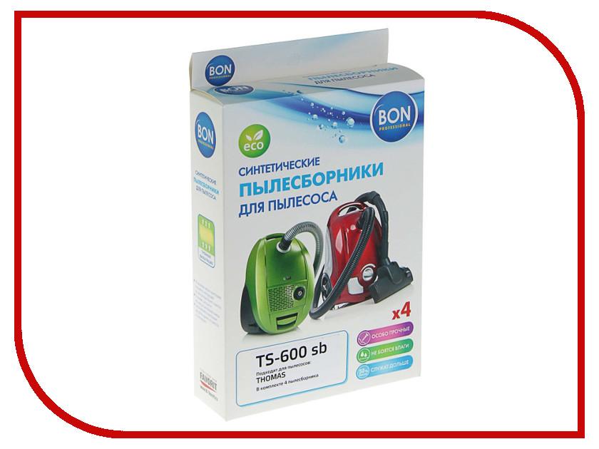 Мешки-пылесборники синтетические Bon TS-600 sb 4шт для Thomas мешки пылесборники для пылесоса hitachi wde 3600 практика стандарт