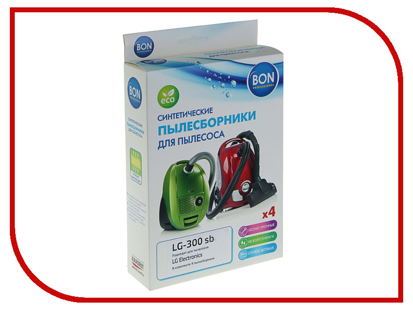 Мешки-пылесборники синтетические Bon LG-300 sb 4шт для LG lg s30pk