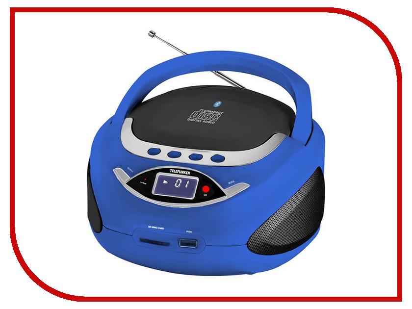 Магнитола TELEFUNKEN TF-CSRP3494B Blue rechargeable screen free mp3 player w tf slot 3 5mm jack blue black