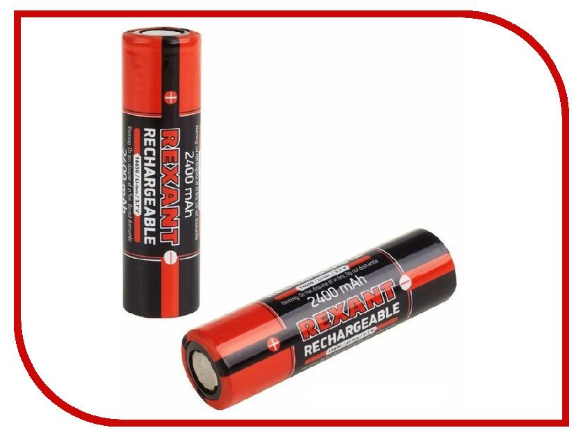 Аккумулятор Rexant 18650 Li-ion 2400mAH 3.7В без защиты 2шт 30-2010-05 аккумулятор aaa rexant 1 2v 1100mah 2шт 30 1411