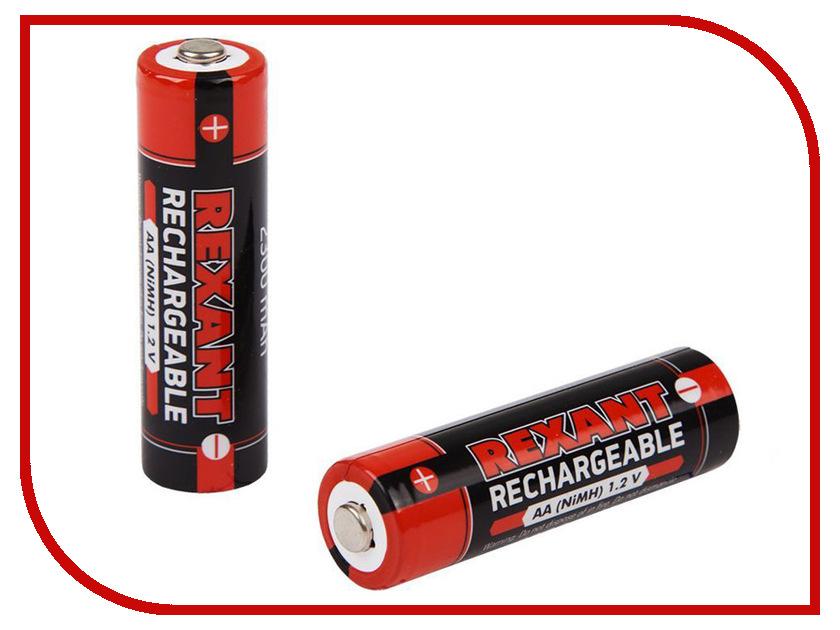 Аккумулятор AA - Rexant 1.2V 2300mAh 2шт 30-1423 аккумулятор rexant 12v 2 2ah 30 2022