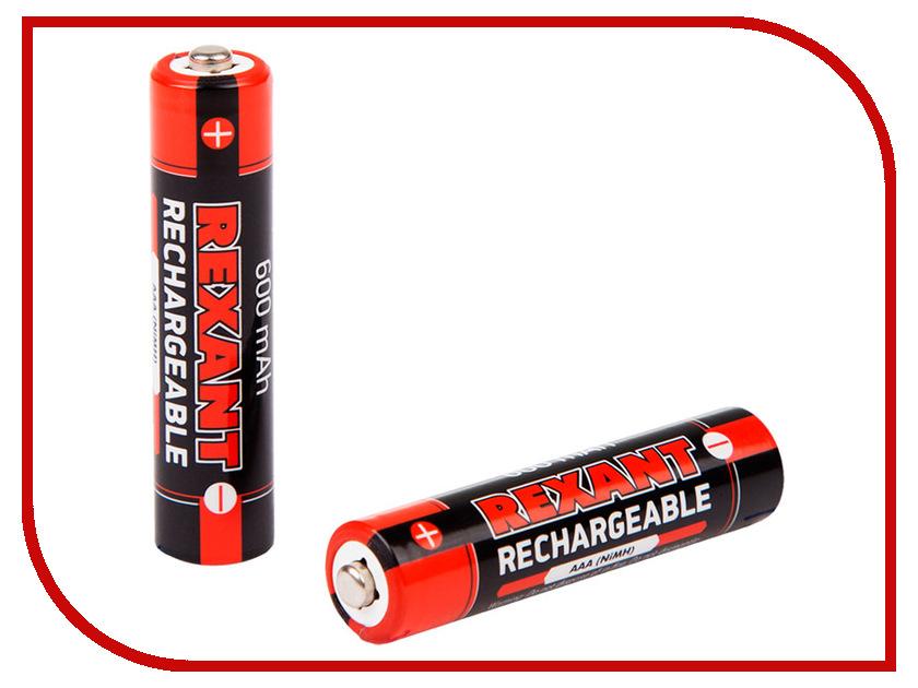 Аккумулятор AAA - Rexant 1.2V 600mAh 2шт 30-1406 аккумулятор aaa rexant 1 2v 1100mah 2шт 30 1411