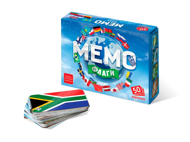 Настольная игра Нескучные игры Мемо флаги 7890