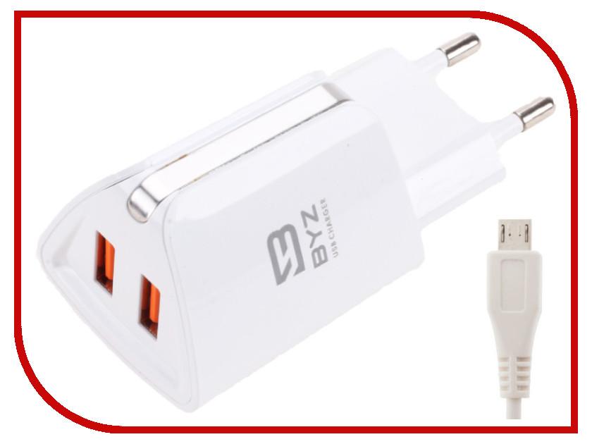 Зарядное устройство BYZ ZL-750 с кабелем MicroUSB White стилус zl 5pieces 3 5 huawei g716 for