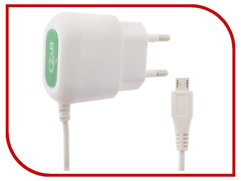 Зарядное устройство BYZ ZL-715 с кабелем MicroUSB White стилус zl 5pieces 3 5 huawei g716 for
