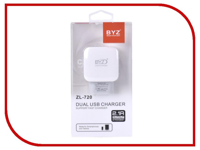 Зарядное устройство BYZ ZL-720 White стилус zl 5pieces 3 5 huawei g716 for