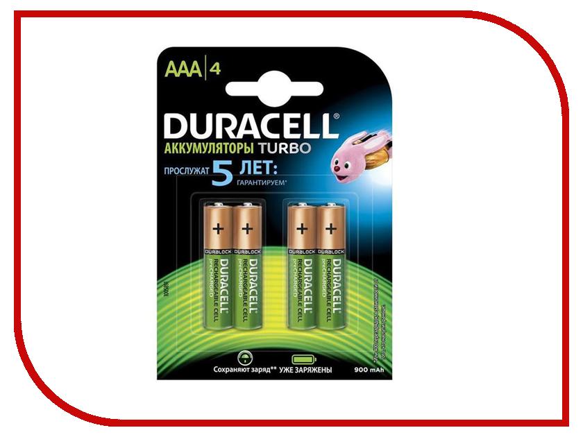 Аккумулятор AAA - Duracell HR03 900 mAh BL4 (4 штуки)