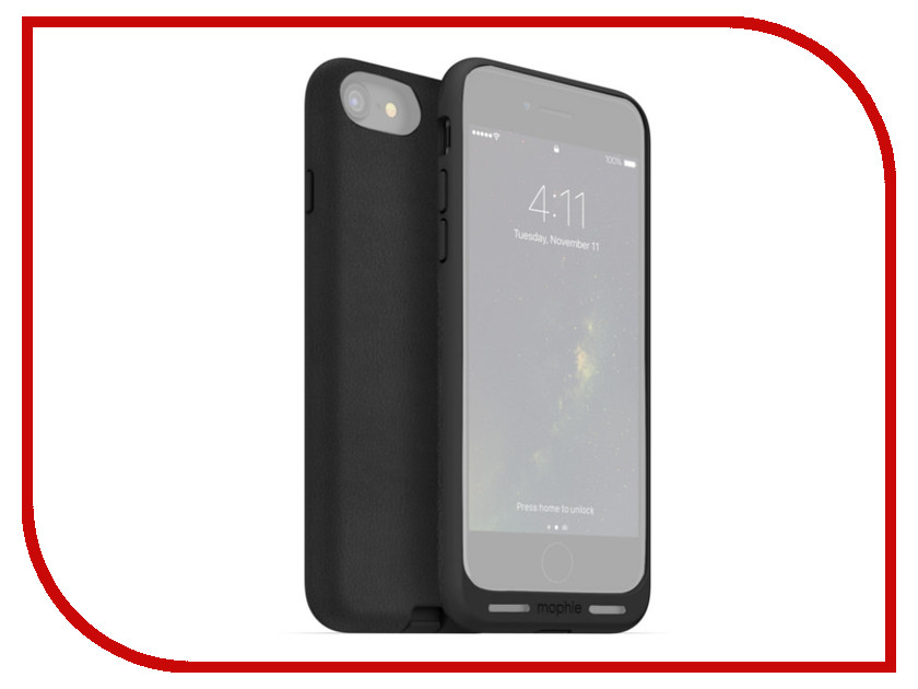 Аксессуар Чехол Mophie Charge Force Case для APPLE iPhone 7 Black 4019 stylish protective pu leather case for iphone 5c white transparent black