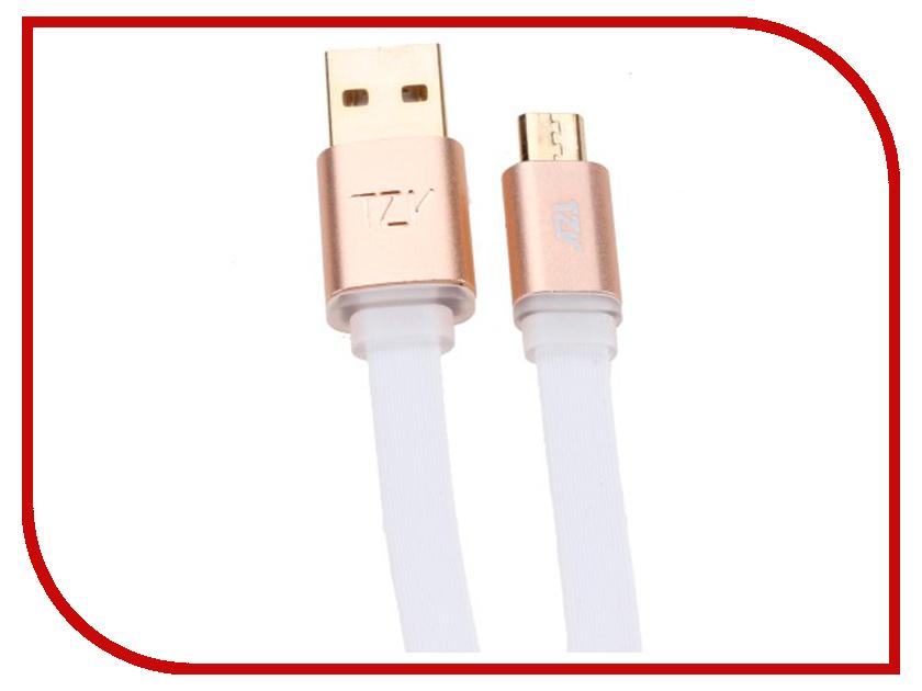 Аксессуар BYZ TZY TL-307 USB - MicroUSB White byz tzy e 166 white