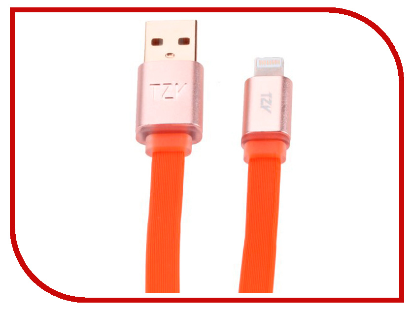 Аксессуар BYZ TZY TL-308 USB - Lightning Red byz tzy e 166 white