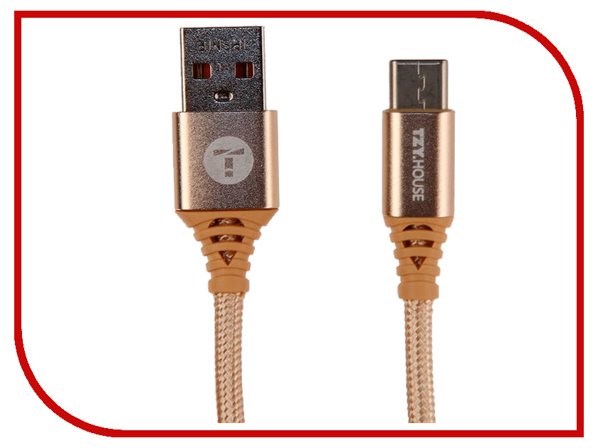 Аксессуар BYZ TZY TL-382 USB - Type-C Gold