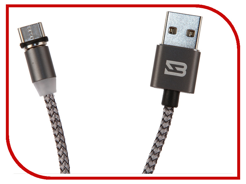 Аксессуар BYZ BC-001 USB - Type-C Grey byz ys 001 red