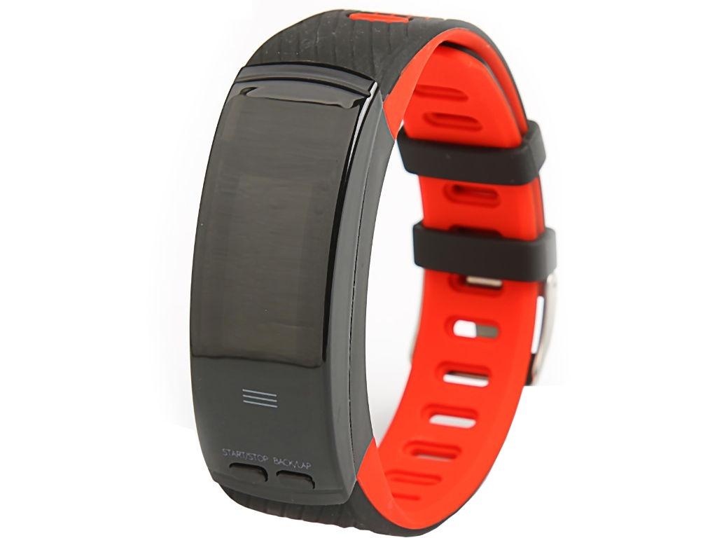 Умный браслет Qumann QSB X Red-Black 110db loud security alarm siren horn speaker buzzer black red dc 6 16v