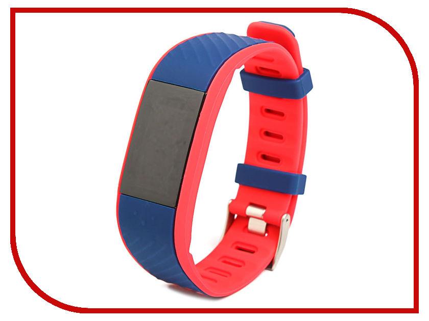 все цены на Умный браслет Qumann QSB 12 Deep Blue-Red онлайн