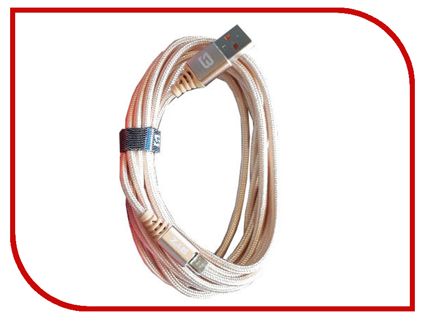 Аксессуар BYZ BC-090 USB - MicroUSB Gold головоломка bondibon цветовой код bb0352 sg 090 ru
