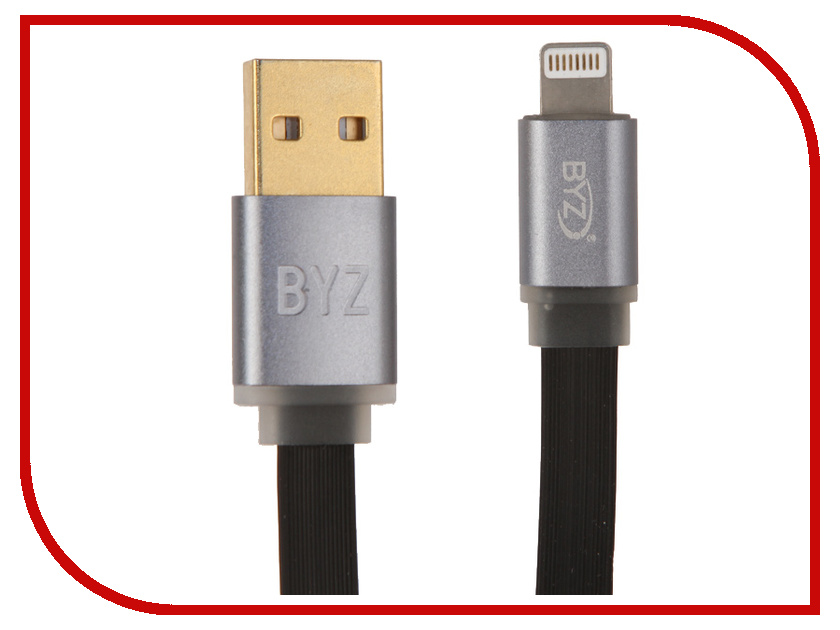 Аксессуар BYZ BL-608 USB - Lightning Black byz ys 032 black