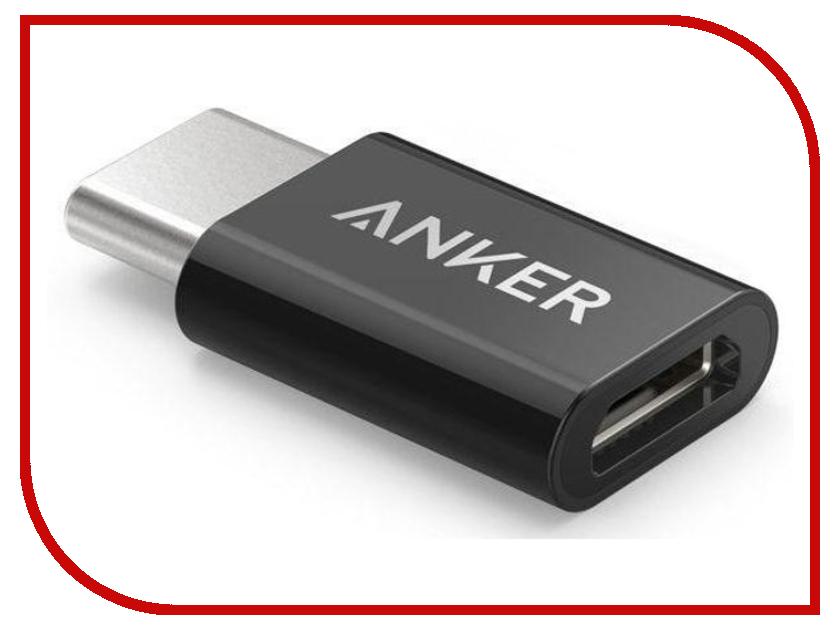 Аксессуар Anker MicroUSB USB-C Black B8174011 anker® usb 3 0