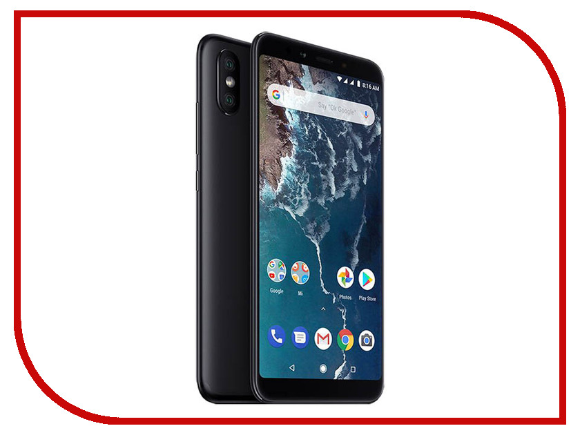 Сотовый телефон Xiaomi Mi A2 4/64GB Black сотовый телефон xiaomi mi note 3 64gb black
